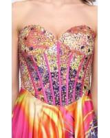 оригинална дизайнерска корсет рокля с къс и дълъг дизайн 2 в 1