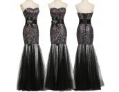 бална рокля с полупрозрачен дизайн