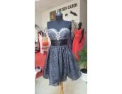 изгодна висококачествена рокля колекция 2018 с метална обшивка от декоративни кристали