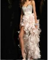 асиметрична бална рокля с панделка 2 в 1