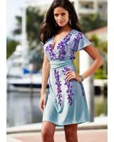 дамска ежедневна рокля в морско синьо