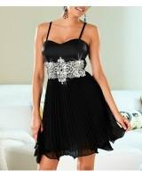 коктейлна вечерна рокля с тънки презрамки и блестящ ефект