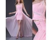 бална рокля 2 в 1 микс от къса и дълга