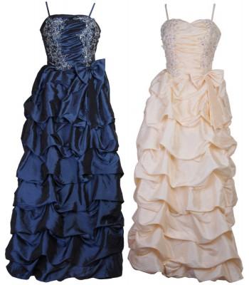романтична обемна рокля с панделки в 2 гами на изгодна цена