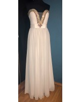официална рокля с изтънчен дизайн и кристали