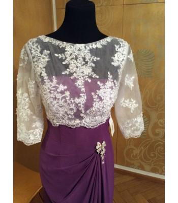 висококачествена официална рокля декорирана с дантела 2017