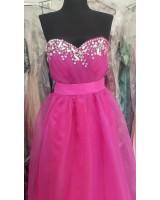 женствена романтична рокля в лилаво