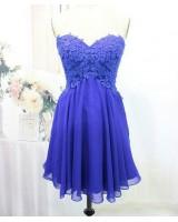 къса официална рокля в кралско синьо