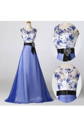 абитуриентска рокля с кралско синьо 2018