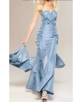вечерна луксозна бутикова абитуриентска рокля с нежна панделка