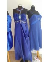 сатенена богато украсена бална рокля в кралско синьо 2015