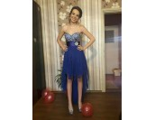 high low бална рокля в кралско синьо 2 в 1 по поръчка