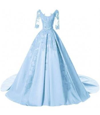 бална рокля тип принцеса 2019 с ръкави и дантела