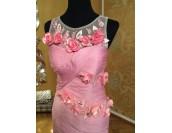 рядка ултра луксозна 3D официална рокля обсипана с цветя