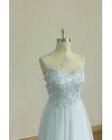 официална рокля с 3D дантела в цвят по избор