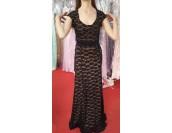 официална дантелена рокля в черно