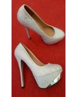 официални бални сватбени обувки с камъни