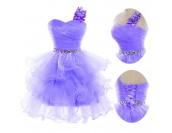 бална шаферска рокля с едно рамо в 2 гами