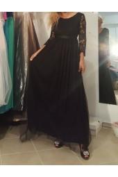 официална рокля от тюл и брюкселска дантела Бални Рокли Благоевград