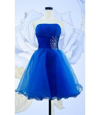къса бална рокля с камъни в 9 гами