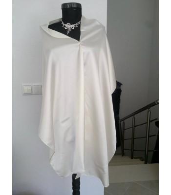 дълъг сатенен сватбен шал пончо от 2 метра