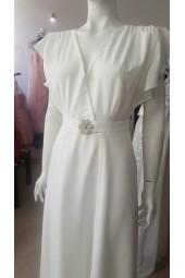 рокля с къс ръкав в слонова кост подходяща за подписване и бременни