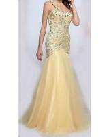 оригинална дизайнерска рокля обсипана с кристали 2018