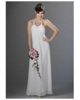 изгодна маркова рокля с перли и гол гръб