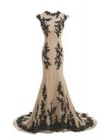 богато обсипана с дантела официална рокля високо качество