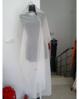 сватбено официално болеро пончо шал воал яка