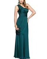 маркова вечерна рокля с едно рамо и асиметричен дизайн