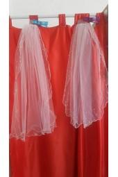 2 модела сватбен воал обсипан с перли