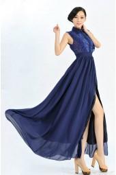 официална рокля с яка в макси размери