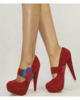 елегантни дамски обувки с декорация 35