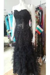бална рокля тип русалка с полупрозрачен корсет Бални Рокли Благоевград 2020