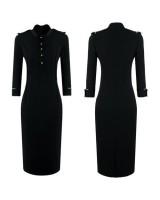 официална бизнес рокля в стил Виктория Бекъм