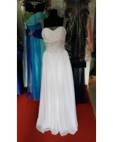 булчинска рокля от шифон декорирана с кристали