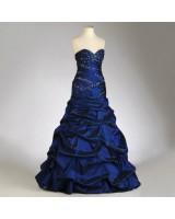 обемна абитуриентска рокля 2016 в кралско синьо на връзки