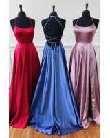 сатенена официална рокля с креативен дизайн