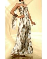 вечерна маркова рокля в пъстра елегантна гама