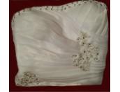 разкошна сватбена булчинска рокля с бюстие корсет и деко камъни