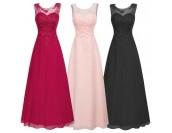луксозна абитуриентска рокля с дантела в много гами