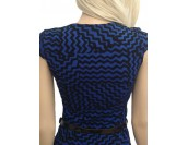 висококачествена бизнес рокля в синьо