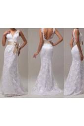 романтична дантелена булчинска рокля с пандела последна бройка
