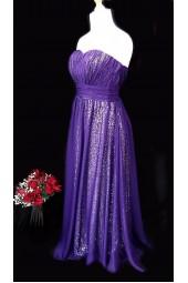 ултра сияеща абитуриентска рокля в лилаво обсипана с пайети 2019