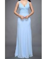 съблазнителна официална рокля с деколте и интересен гръб