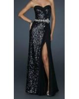 ултра сияеща рокля в черно с кристали
