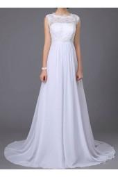 класическа булчинска рокля с дантела подходяща и за бременни в 2 гами