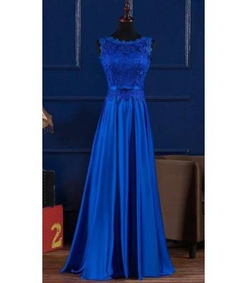 висококачествена официална рокля в кралско синьо 2019