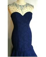 луксозна официална рокля в кралско синьо лимитирана серия